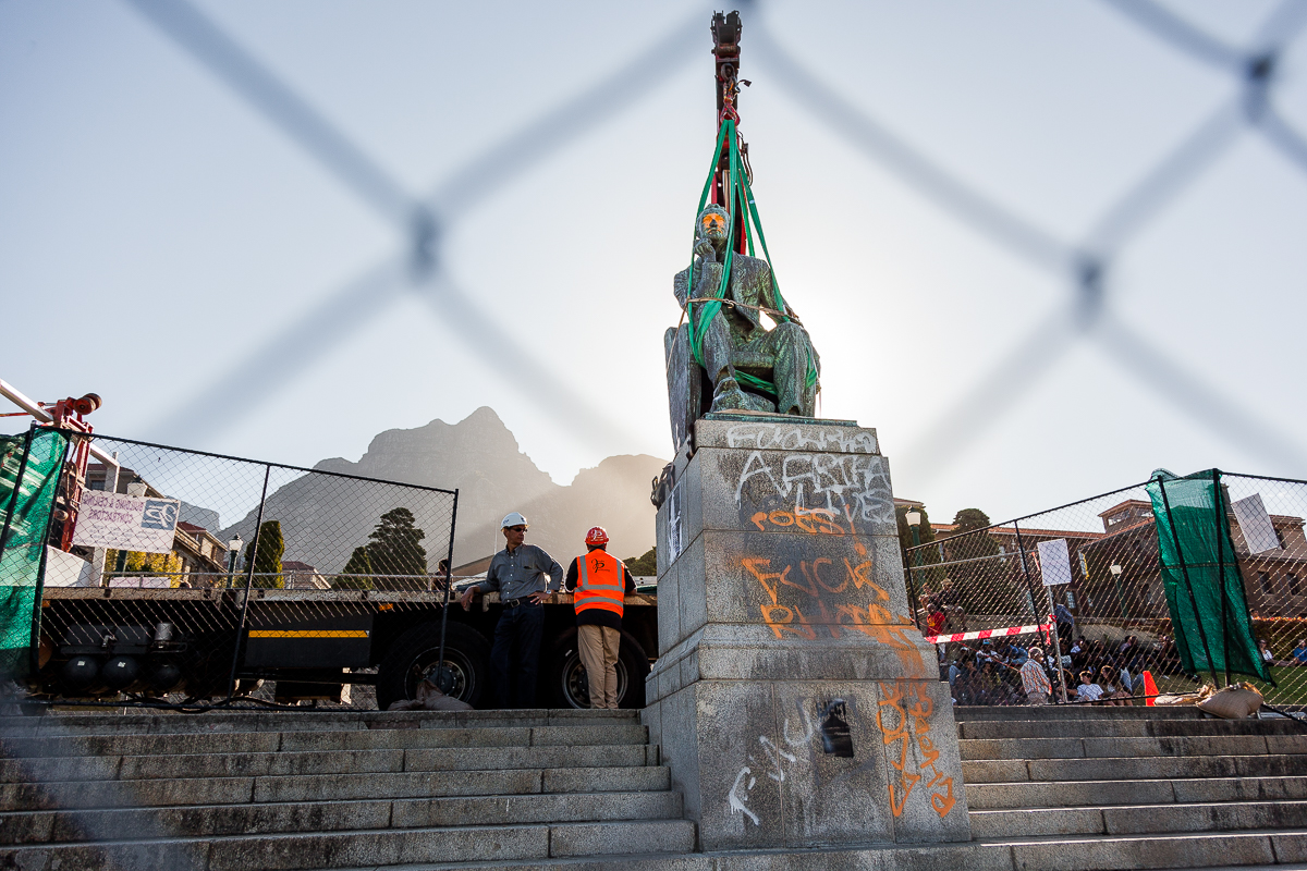 After a Month of Protests, University of Cape Town Removes Major Monument.