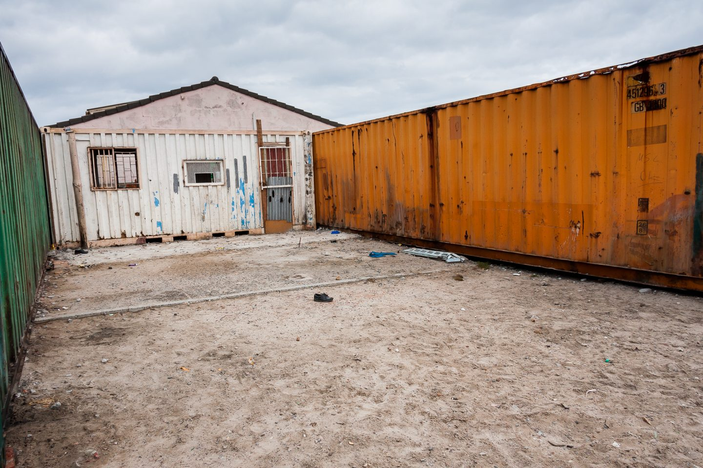 The community organisation were given three containers by a sponsor to create a safe haven for the youth of the area.