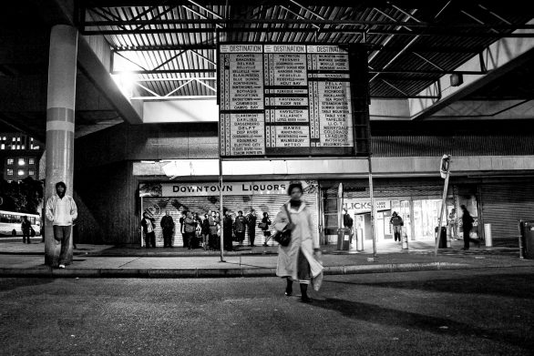 Cape Town Central Bus Terminus after dark