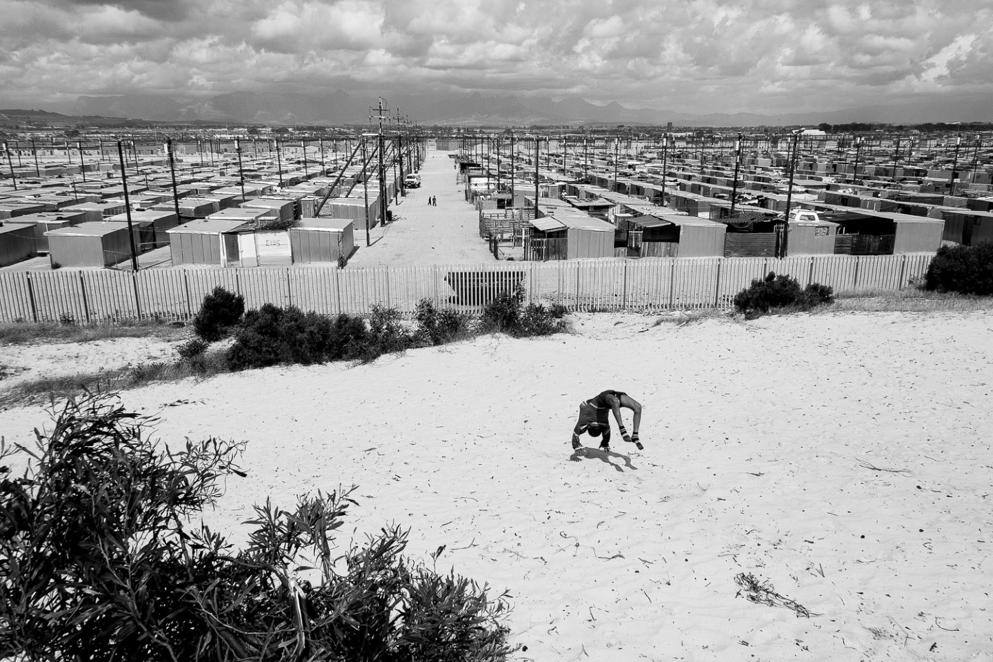 Overlooking one of Western Cape's temporary housing projects, Blikkiesdorp, 2010.