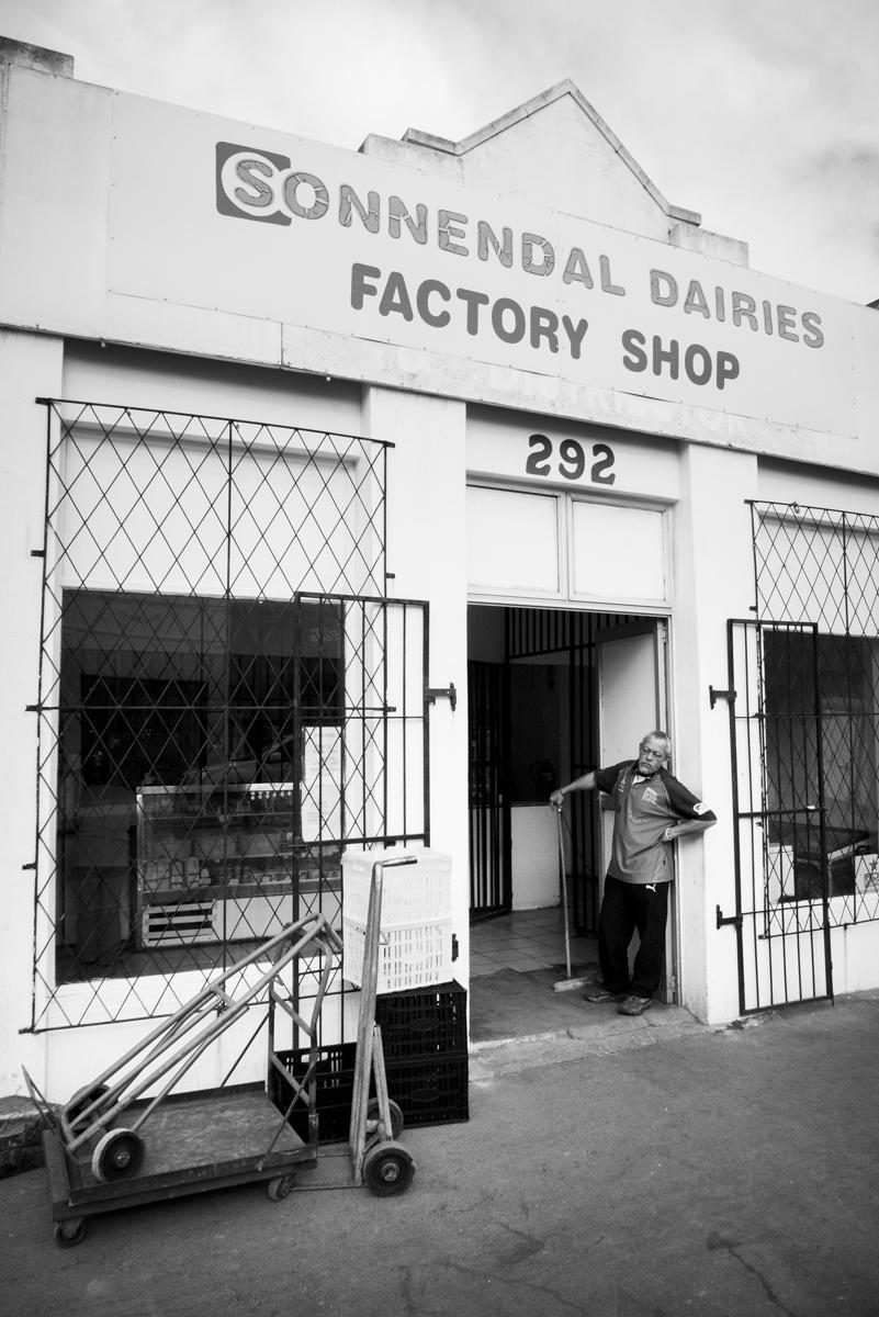 Store front in Salt River's Lower Main Road - Sonnendal Factory shop.